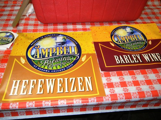 Campbell Brewing Company Hefeweizen.