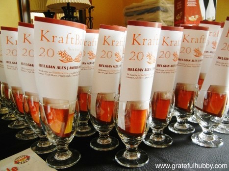 Glassware from the first KraftBrew Beer Fest