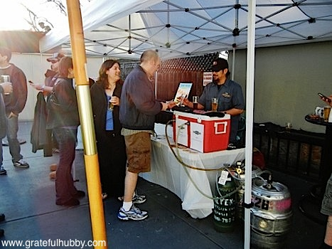 Rock Bottom Brewery pourings by brewer Larry Hoang at the inaugural San Jose Beerwalk in Japantown