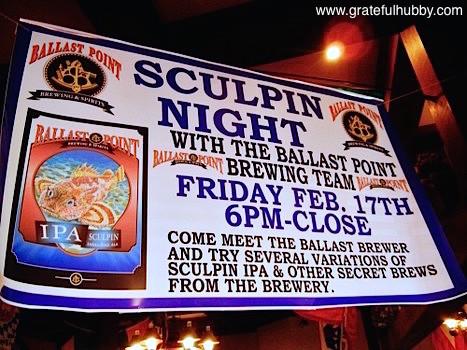 Ballast Point Sculpin Night at Harry's Hofbrau San Jose