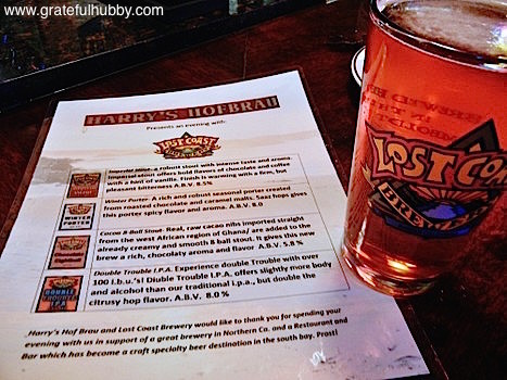 Lost Coast Double Trouble IPA at Harry's Hofbrau San Jose