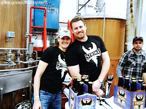 Strike Brewing CEO Jenny Lewis and Brewmaster Drew Ehrlich