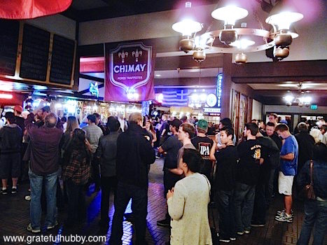 Long lines at the IPA beer event at Harry's Hofbrau San Jose