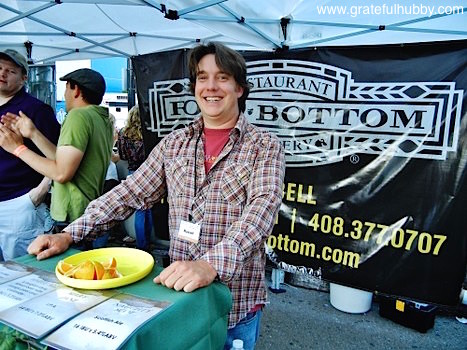 Russell Clements of Rock Bottom Campbell at the 2012 Better Brew Tasting Garden