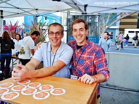 Kevin Clark (r) of Peter B's at the 2012 Better Brew Tasting Garden