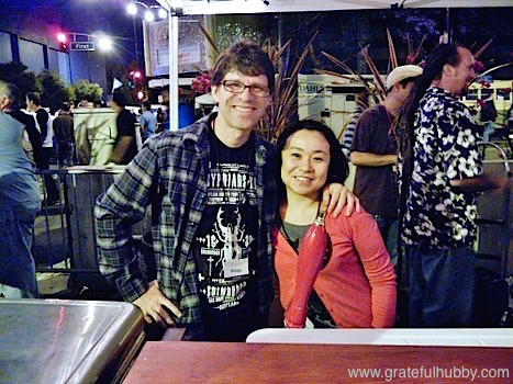 Volunteers and San Jose beer fans Kregg and Hiromi at the 2012 Better Brew Tasting Garden