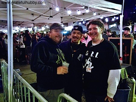 South Bay brewmaster Steve Donohue, Larry Hoang of Rock Bottom Campbell, and Jim Turturici of Campbell Brewing at the 2012 Better Brew Tasting Garden