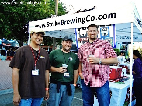 Peter Estaniel of BetterBeerBlog, South Bay brewmaster Steve Donohue, and Drew Ehrlich of Strike Brewing at the 2012 Better Brew Tasting Garden