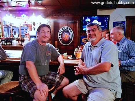 South Bay beer enthusiasts Joe (left) and Antony (right) at a recent pint night at Harry's Hofbrau in San Jose