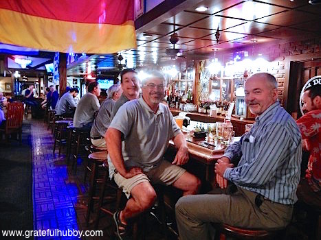 South bay beer fans Joe (left), Antony (center), Russ and David (right) at a recent pint night at Harry's Hofbrau in San Jose