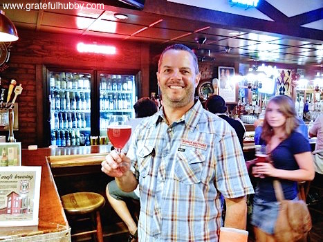 Mike McKee of Widmer Brothers at a recent Widmer pint night at Harry's Hofbrau in San Jose