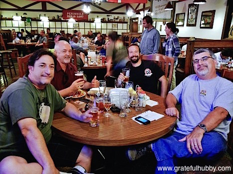 San Jose beer enthusiasts (left to right) Joe, Russ, David, and Antony at a recent Widmer pint night at Harry's Hofbrau in San Jose