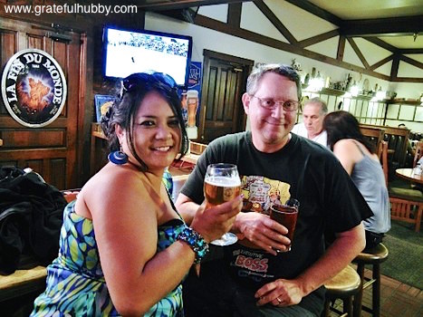 San Jose beer fans Noreen and Jim at a recent Widmer pint night at Harry's Hofbrau in San Jose