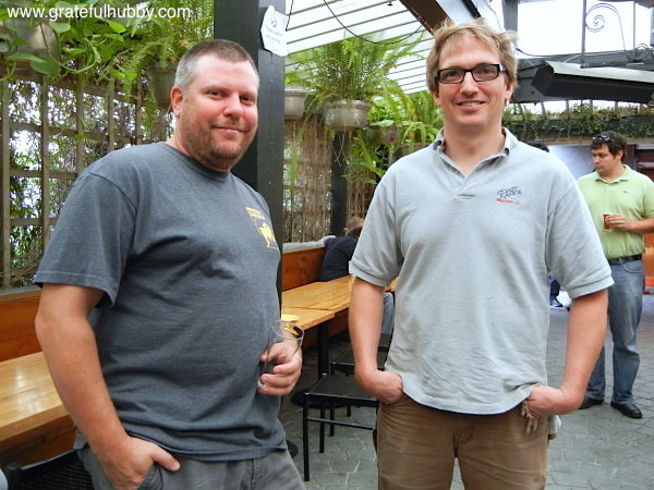 Steve Donohue and Peter Licht (Brewmaster at Hermitage Brewing Company), June 22, 2012