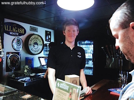 The spotlight shines on general manager Kevin Olcese at a recent Widmer pint night at Harry's Hofbrau in San Jose