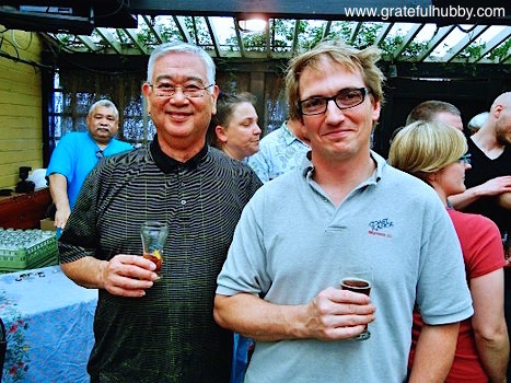 Ron Manabe and Peter Licht at the Hermitage Brewing Ale de Dieux biere de garde release party at Tied House in Mountain View