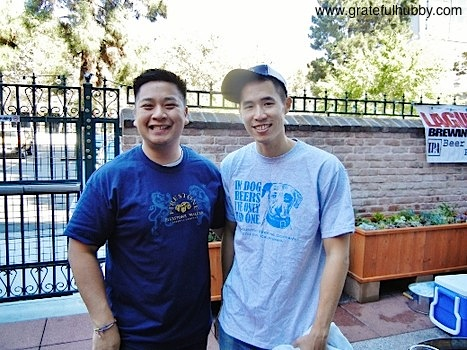 Original Gravity owners Dan Phan and Johnny Wang at the Original Gravity Public House grand opening celebration