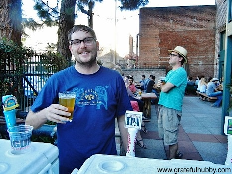 Original Gravity's Rob Monroe at the Original Gravity Public House grand opening celebration