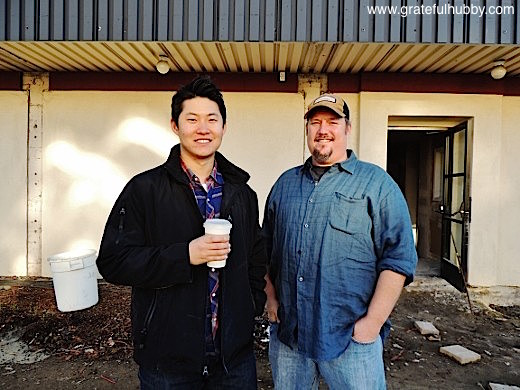 Owner Ted Kim (l) and executive chef Colby Reade (r) of soon-to-open Steins Beer Garden & Restaurant