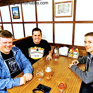 BREW PATROL - Silicon Valley Sudzers members Derek Wolfgram (left), Keith McKay (center) and Tom Eastman met recently at Harry's Hofbrau in San Jose