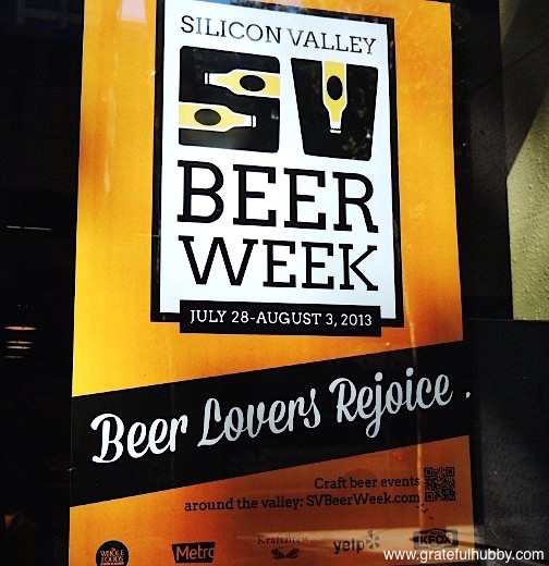 Poster of Silicon Valley Beer Week 2013, taking place from July 28 to Aug. 3