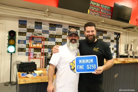 Golden State Brewery owners Brian Gomez (l) and Seth Hendrickson (r) a week before their brewery grand opening