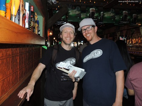 Beerwalk co-founders Jordan Trigg and Charlie Mann at last year's Mountain View Beerwalk