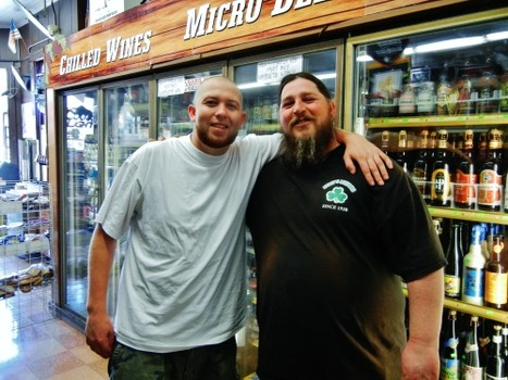 Brandon Bonner and Jake McCluskey of Kelly's Liquors