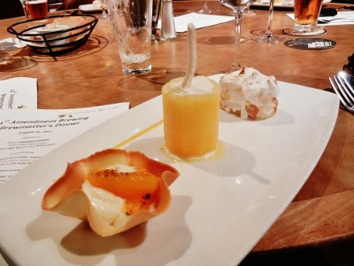 Dessert course from a previous 21st Amendment Brewmaster's dinner