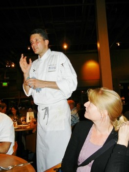 Executive Chef Mark Pettyjohn answering questions from a previous brewmaster's dinner