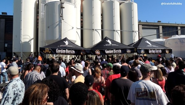 Photo from 25th anniversary celebration at Gordon Biersch Brewery in San Jose