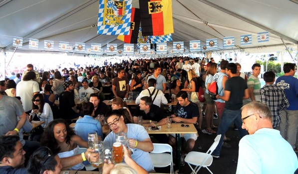 Revelers at the inaugural Mountain View Oktoberfest