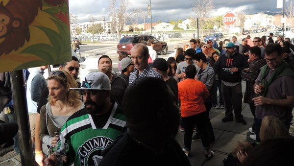 Scene from the Feb. 2015 Beerwalk in Japantown
