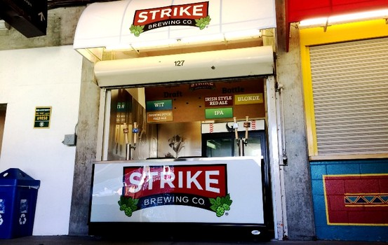 Strike Brewing Co. craft beer garage (concession stand) at O.co Coliseum