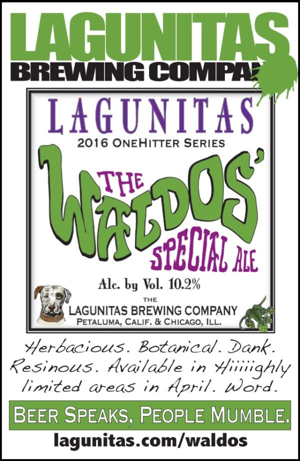 2016 Waldos' Special Ale, courtesy of Lagunitas