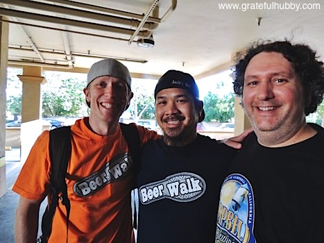 Beerwalk co-founder Jordan Trigg, Hermitage Brewing's Larry Hoang, and Campbell Brewing's Jim Turturici