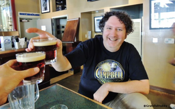 Brewmaster Jim Turturici and yours truly enjoying his Mastiff Barleywine in July that would go on to win a silver medal three months later at the 2014 GABF