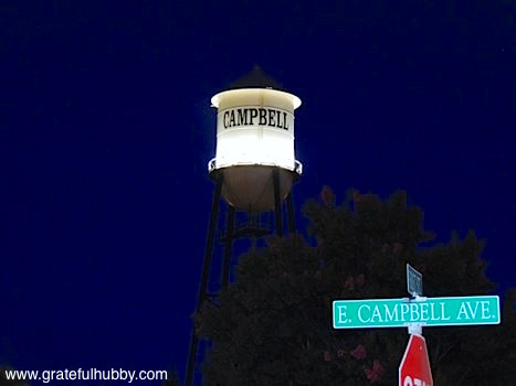 Ending the Beerwalk with a nice view of the Campbell water tower