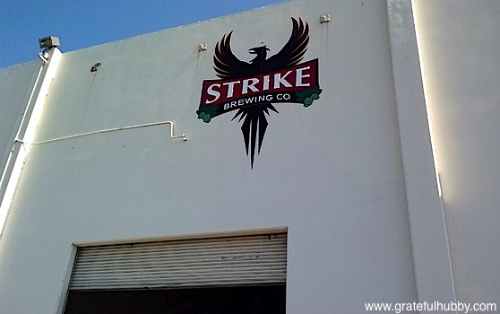 Strike Brewing Company Sign