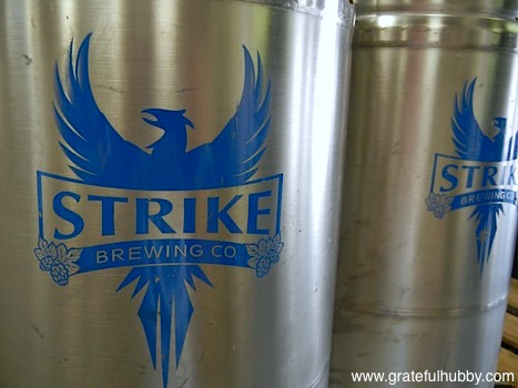 Strike Brewing Company kegs