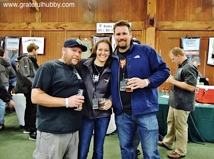 Strike Brewing's Jenny Lewis (c) and Drew Ehrlich (r) with Santa Clara Valley Brewing's Steve Donohue (l)