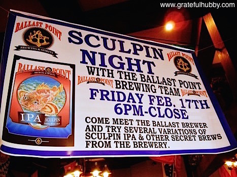 Ballast Point Sculpin Night at Harry's Hofbrau in San Jose