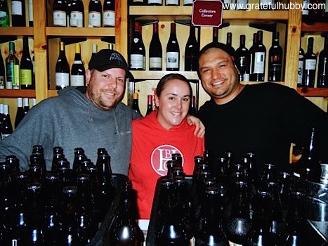 Brewmaster Steve Donohue of Firehouse, Director of Marketing Carolyn Hopkins-Vasquez of Tied House/Hermitage, and Assistant Brewer Jason Gutierrez of Firehouse