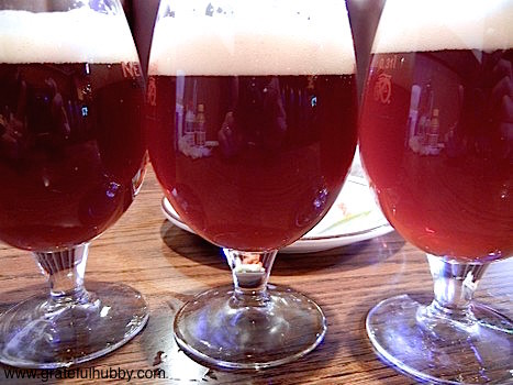 Enjoying good beers at Harry's Hofbrau in San Jose