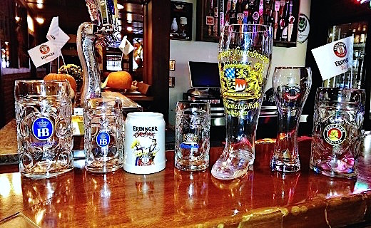 Available glassware (while supplies last) during Oktoberfest 2013 at Harry's Hofbrau San Jose