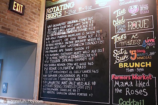 Rotating Beers List at Eureka! Cupertino