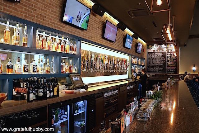 The gorgeous bar at Eureka! Cupertino