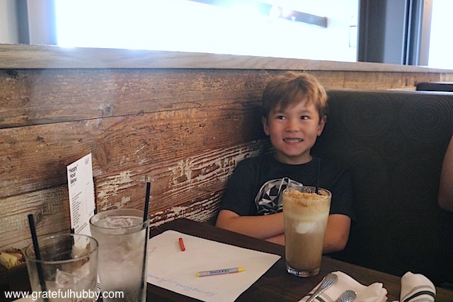 A kid who has recently discovered the joys of a root beer float