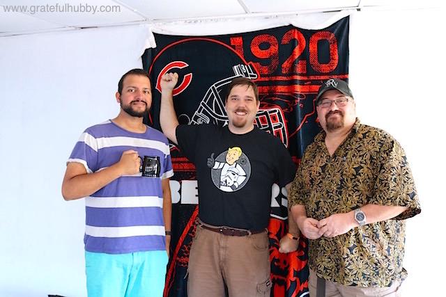 Us early birds: Srish (host), Matt (organizer) and Mike
