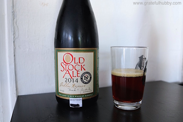 North Coast Brewing Old Stock Ale 2014 Cellar Reserve (Ale Aged in Rye Whiskey Barrels), 13.75% ABV